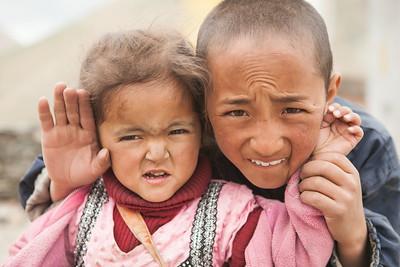 Kids at Rangdum, Kargil, India