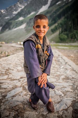 Gujjar kid from Rajouri district, Sonamarg, Kashmir, India