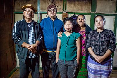 A Galo family from Basar, Arunachal Pradesh, India