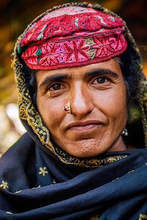 A Gujjar woman from Chatpal, Kashmir, India