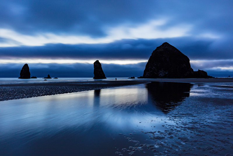 Blue Hour, Cannon Beach, Haystack Rock