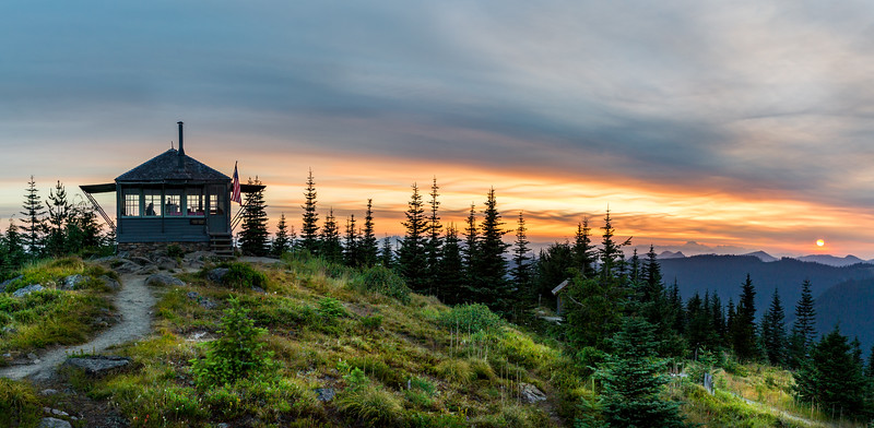 Sunrise at Suntop Fire Lookout