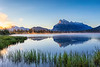 Sunrise at Vermilion lakes in Banff National Park, Alberta, Canada