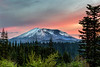 Mt St Helens Sunset, 35th Anniversary