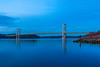Tacoma Narrows Bridge during the blue hour