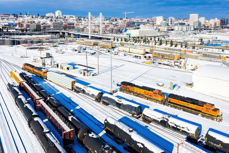 Trains in Tacoma Washington