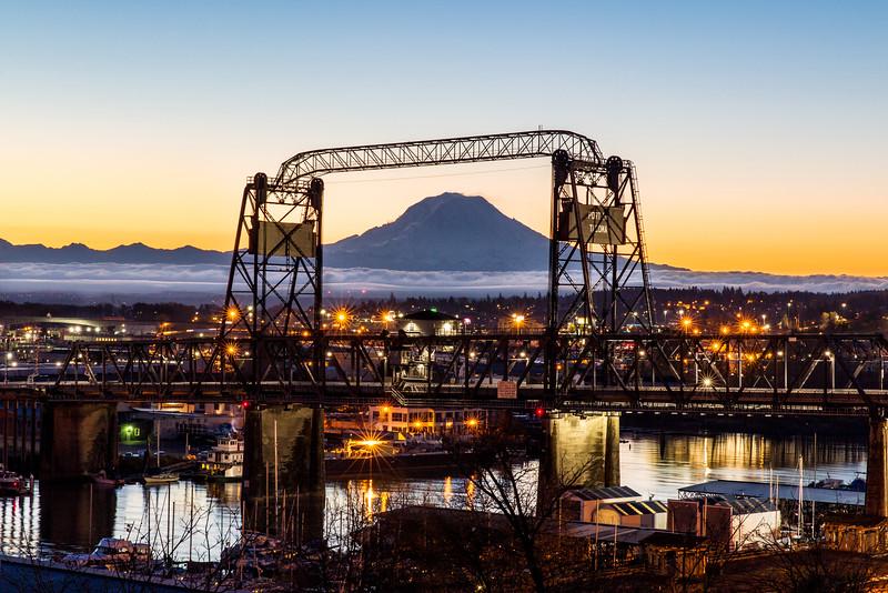 Tacoma Sunrise with Mt Rainier