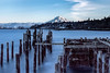 Tacoma Waterfront with Mt Rainier