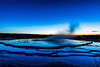 Blue Hour at Great Fountain Geyser