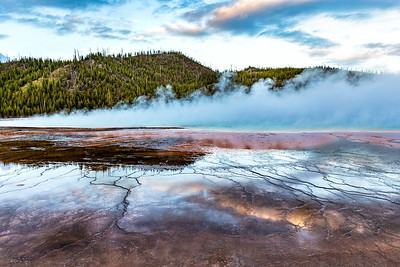 Cold Morning - Grand Prismatic Spring