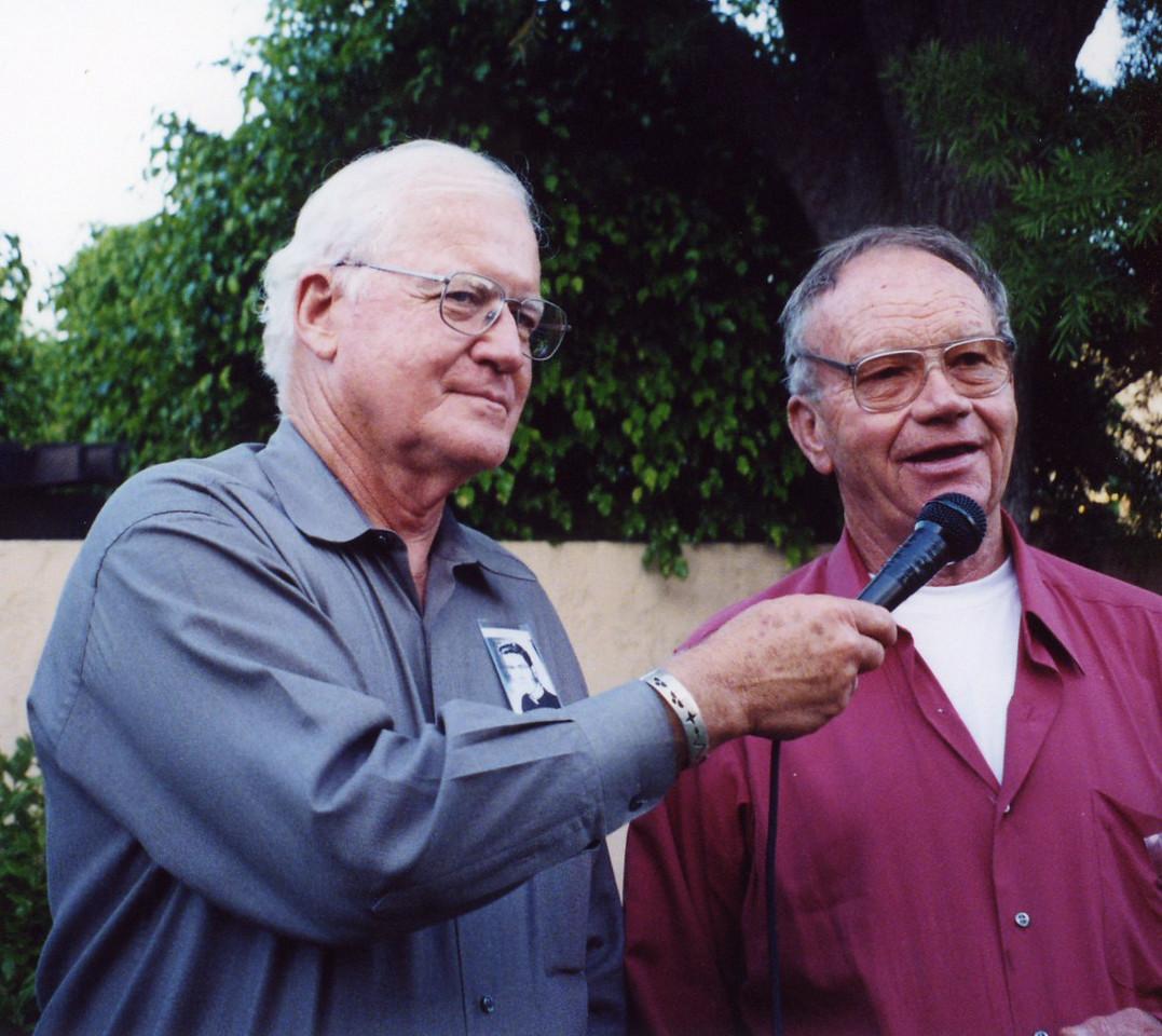 Richard Boylan and Jerry Yaeger at 50th Seminary Class Reunion