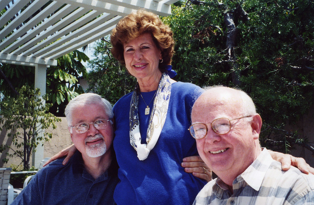 Betty with Phil and Wayne at 50th Seminary Class Reunion