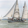 Suhaili sailing in the Hamble Classics