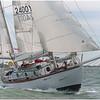 Suhaili sailing in the Hamble Classics