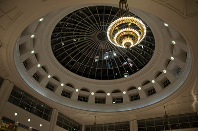 TOWER CITY DOME AND CHANDELIER