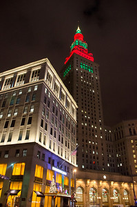 TOWER CITY FROM PUBLIC SQUARE AT CHRISTMAS