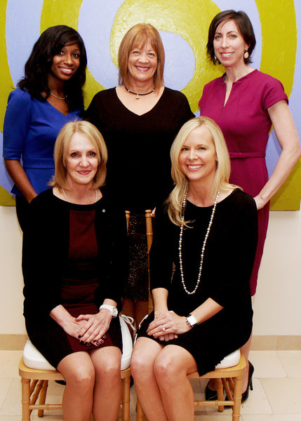 Image # 1<br /> Back row left to right: Melissa Van Putten-Henderson, Wells Fargo Private Bank, Diane Wilde, CEO of Dress for Success, Stefanie Lewis, Wells Fargo Private Bank<br /> Front row left to right: Karen Beach and Kelly Thill, Wells Fargo Private Bank