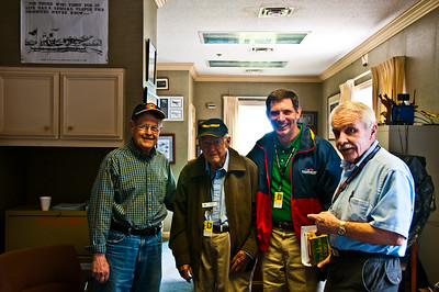 MY GUIDES THRU THE MUSEUM: L-R: RICHARD WOOD, BOB COLE, TIM SMITH & DON SPROULE   2