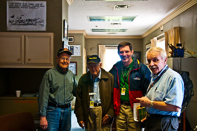 MY GUIDES THRU THE MUSEUM: L-R: RICHARD WOOD, BOB COLE, TIM SMITH & DON SPROULE