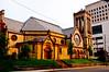 SETTING SUN ON CENTRAL CHRISTIAN CHURCH  - 2