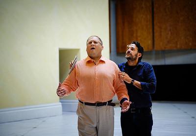 Taras Shtonda & Jacopo Spirei - Eugene Onegin Rehearsals, Glyndebourne 2014
