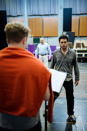 Elliot Madore and Taras Shtonda - Don Giovanni Stage and Studio Rehearsals - Glyndebourne 2014