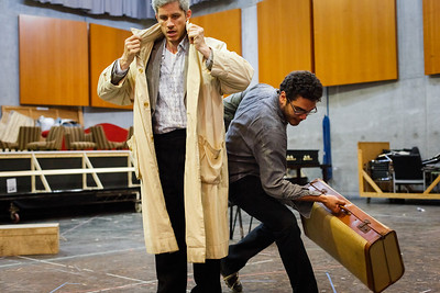 Edwin Crossley-Mercer and Elliot Madore - Don Giovanni Stage and Studio Rehearsals - Glyndebourne 2014