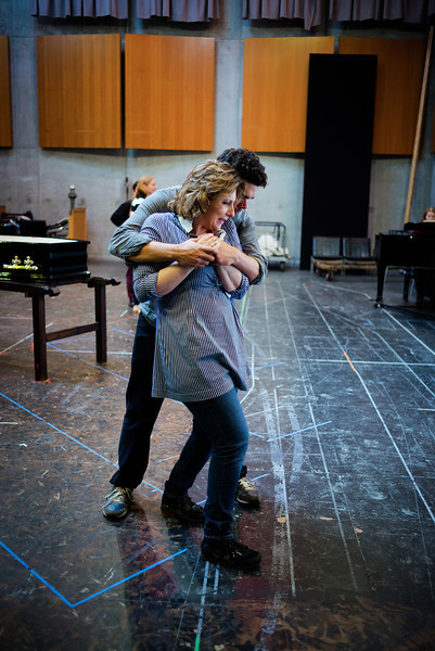 Elliot Madore (Don Giovanni) and Serena Farnocchia (Donna Elvira) - Don Giovanni Stage and Studio Rehearsals - Glyndebourne 2014