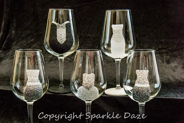 Sparkle Daze Glittered Glassware