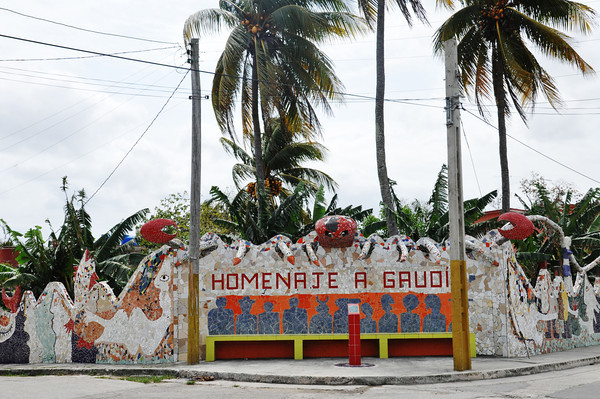 """Homage to Gaudi,"" designed and decorated by Cuban artist, José Fuster, in Jaiminita, Cuba."