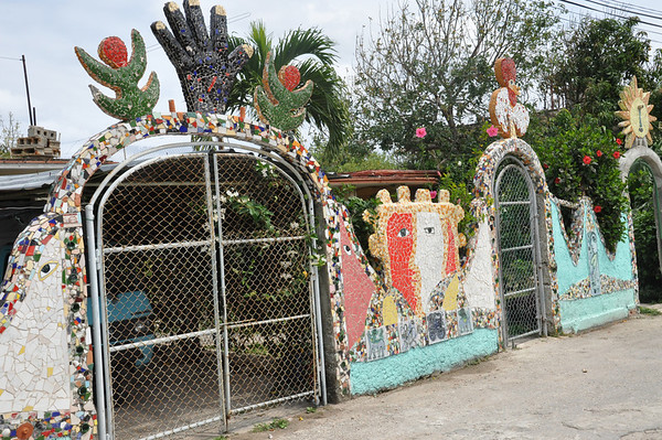 José Fuster's neighbor's home, designed and decorated by Cuban artist, José Fuster, in Jaiminita, Cuba.