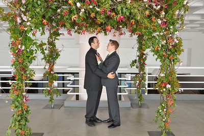 Jesse and Peter's wedding ceremony at the 404 event space.