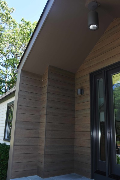Trespa panels on home in East Hampton, New York, August 2016.