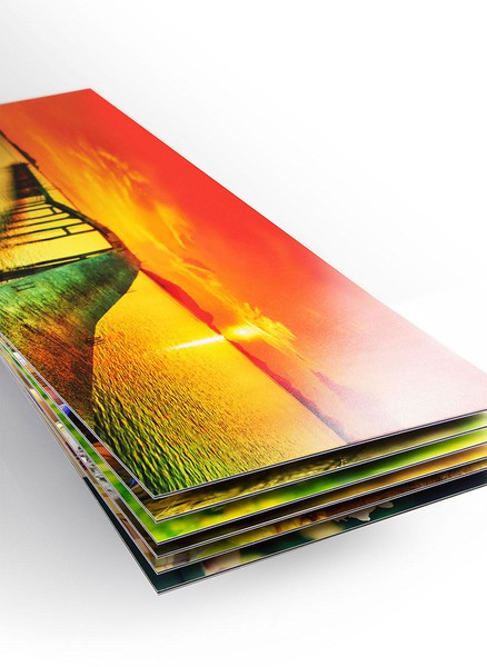 Lay flat photo paper shown in Lustre, metallic and matt also available.