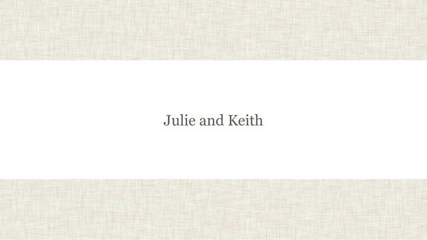 Julie and Keith Slideshow