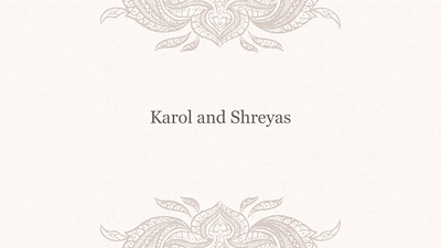 Karol and Shreyas wedding slideshow
