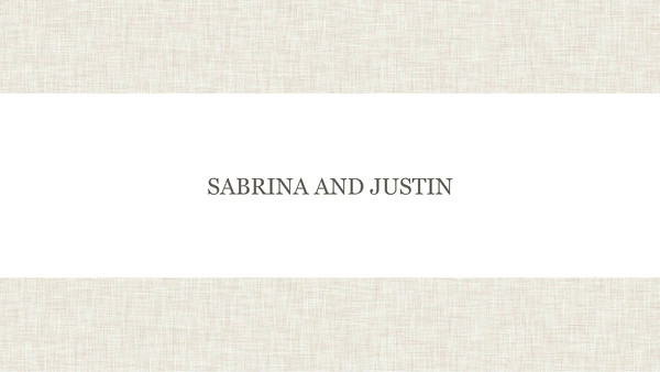 Sabrina and Justin Slidshow