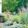 Inviting Mediterranean style dry garden