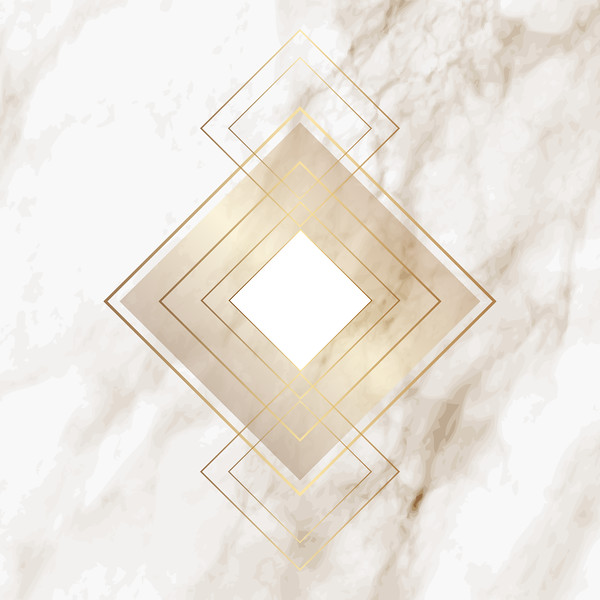 Gold diamond pattern on elegant marble texture