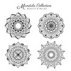 Set of mandala decorative and ornamental design for coloring page, greeting card, invitation, tattoo, yoga and spa symbol. Vector illustration