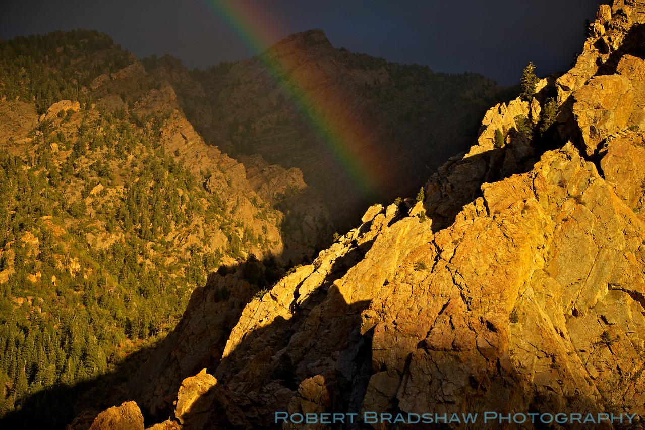 Rainbow in Big Cottonwood Canyon