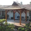 Japanese Style small pergola 8x8' w 2' roof overhang