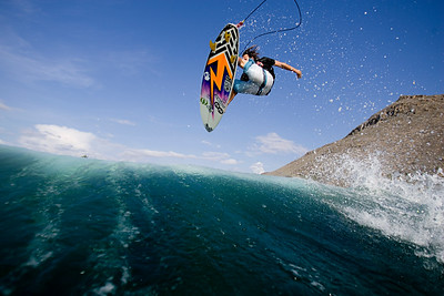 Justin Quirk - Southern Baja, 2009. This was my first assignment as a water photographer. On location with Surf Ride.