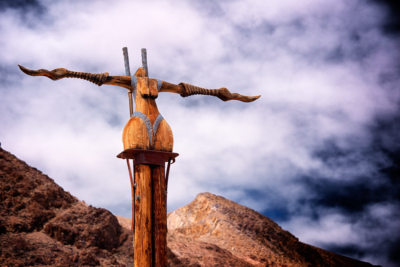 Icara <br /> by Dre Peeters <br /> <br /> Art piece at the Goldwell Open Air Museum, Ryolite, NV.