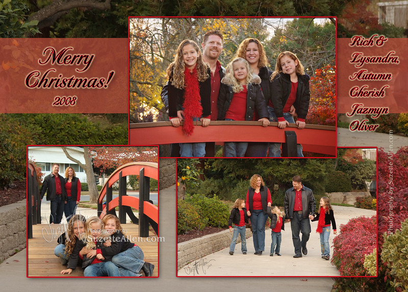 Red and black makes a fun combo for Christmas cards!