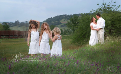 All white is always classic for outdoor pictures in the spring! These are little slips on the girls and worked perfectly for this session in the field.