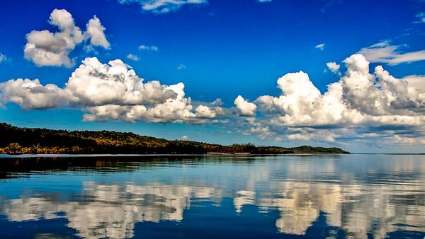 Magnificent white cloud in blue sky. Australia.
