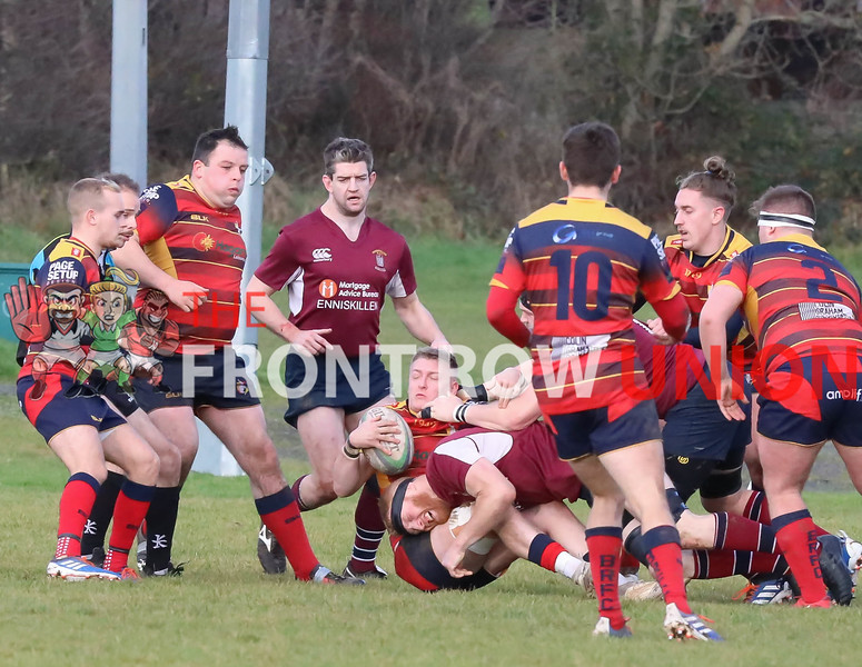 Ballyclare 3 Enniskillen 23, Junior Cup, Saturday 30th November 2019