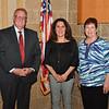 L-R: Board President Nelson Albrecht, Vice President Cheryl Roop, and Secretary Jeanine Galbraith