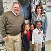 Illinois State Senator Patrick Joyce (40th Dist.) shares a smile with Crete-Monee School District Superintendent Dr. Kara Coglianese and Coretta Scott King Magnet School kindergarteners Aubrianna Chapman, Bailey Sanders, and Shantelle Dilworth.